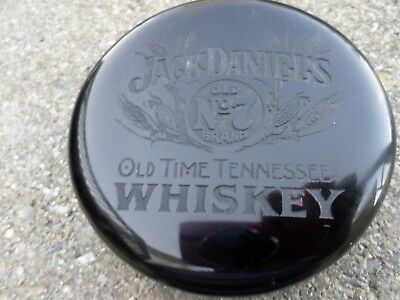 WHISKEY Jack Daniels Old NO 7 Solid Black GLASS FENTON ART GLASS PAPER WEIGHT