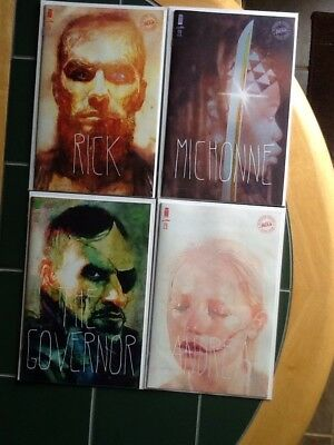 Four (4) The Walking Dead Image Variant Cover Comics Issues 175,176,177,178