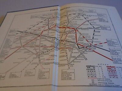 vintage Muirheads guide to Paris 1950s with maps