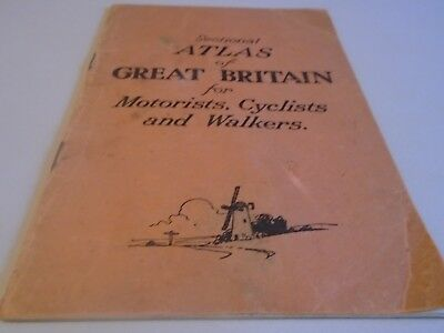 small vintage British road atlas