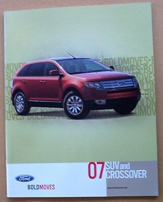 2007 07 Ford SUV Crossover Sales Brochure NEW Edge Freestyle Escape Color Chips