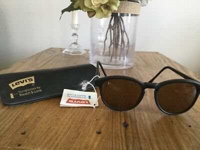 Vintage Ray Ban I's Levi's Bausch & Lomb Sunglasses W1178 Case Included Black