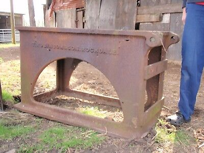 Thos Robinson Saw Bench - Very Old and Very Heavy, No Saw Included 4 ft x 2 ft