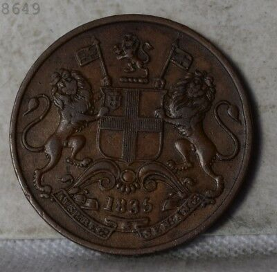 """1835 British India 1/4 Anna """"XF"""" *Free S/H After 1st Item*"""