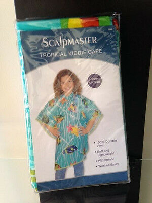 "Scalpmaster Child Shampoo Cape Tropical Styling Cape Vinyl 42""X35"" Snap #3095"