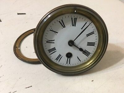 Antique French Mantle Clock Time Only Movement & Hands Japy Or Marti Era
