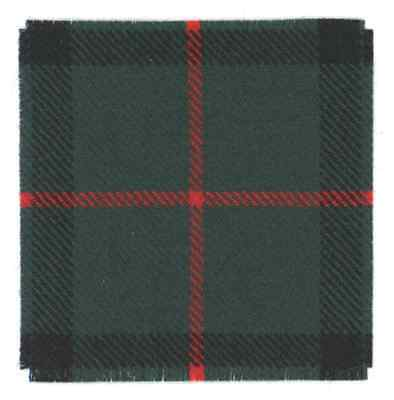 100% Wool Murray Of Athol Tartan Canadian North Nova Scotia Regt Nnsr Cap Badge