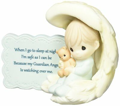 Precious Moments 152009 My Guardian Angel, Bisque Porcelain Figurine, Boy