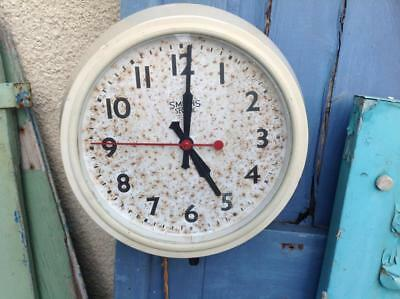 Vintage SMITHS Factory Clock Electric Bakelite Reclaimed Salvaged Rustic Chic