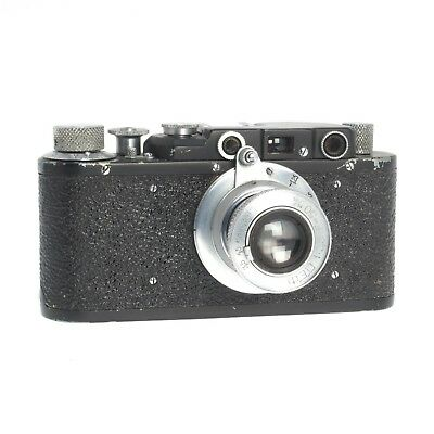 Rare Black Paint Fed 1F VIntage 35MM Film Rangefinder Camera w/50MM F3.5 Lens