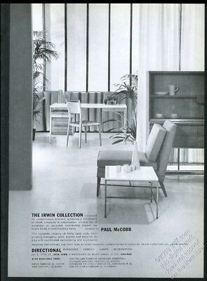 1953 Paul McCobb modern chair table cabinet desk photo Directional vintage ad