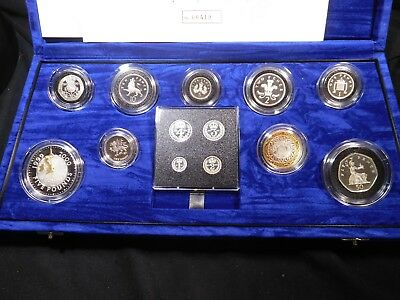 H39 Great Britain 2000 Silver Millenium Collection incl. Maundy Set w/ BOX & COA