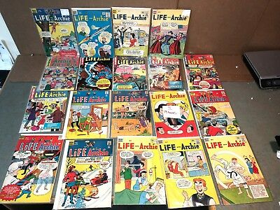 LOT 19 1950s 60s SILVER AGE LIFE WITH ARCHIE - mixed cartoon comic BOOK  lot