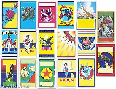17 Vintage Broom Labels Genuine 1930S 1940S 1950S Various Themes Graphic Design
