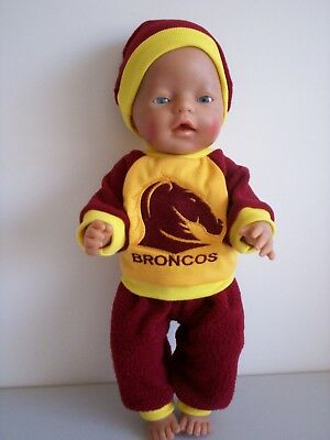 """Baby Born 17""""  Dolls Clothes Bronco's Cheerleader Tracksuit Outfit"""