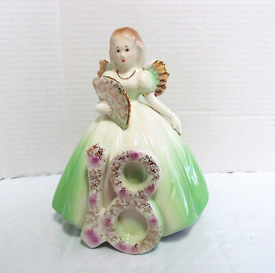 Vintage Josef Originals 18 Year Birthday Girl Angel Figurine - Euc * Free Ship