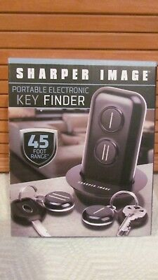 Sharper Image Portable Electronic Key Finder 45 Foot Range Bnib