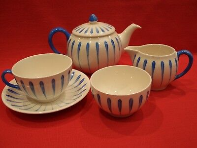 Gray's Pottery Tea Set For One Teapot Cup Saucer Milk & Sugar D461 Sam Talbot??
