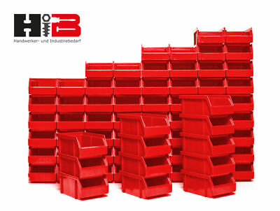 Extra Remaining Lot 72 Pieces NEW Stack Boxes Storage in Red Made Germany