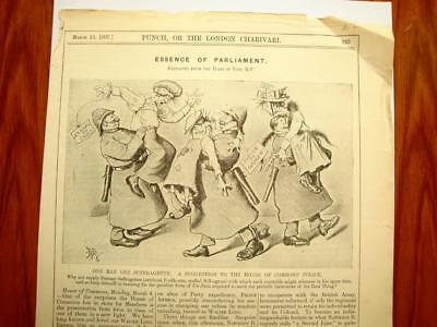 SUPERB ANTIQUE ORIGINAL PERIOD EARLY 1900`s POLITICAL SUFFRAGETTE CARTOON # 13