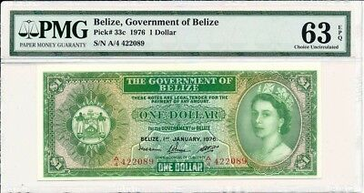 Government of Belize Belize  $1 1976  PMG  63EPQ