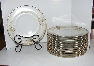 "National China ""Patricia"" Made in Japan Luncheon / Salad Plates  x12 ~~ HTF"