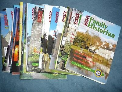 Bundle of Sussex Family Historian - History group magazines