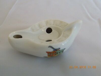 W H GOSS CRESTED CHINA MODEL OF ANCIENT LAMP HARRISMITH, SOUTH AFRICA  c1890-95