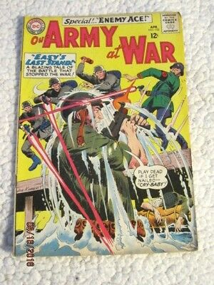 2ND ENEMY ACE~VTG DC war comic~OUR ARMY AT WAR #153 FINE 6.0~SGT ROCK~KUBERT art