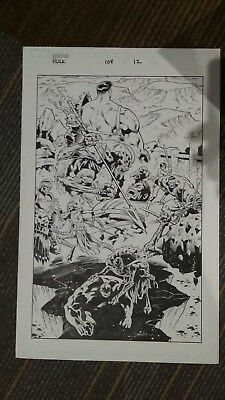 Incredible Hulk 108 Page #12 Original Art. Splash Page World War Hulk, Gladiator