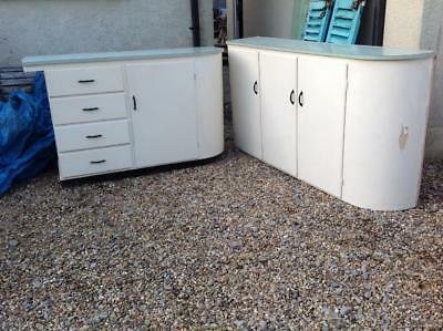 Vintage 1950's Kitchen Cupboards Art Deco Kitchen Cupboards Salvaged Reclaimed
