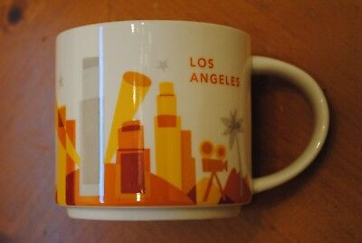 Starbucks COFFEE Large Cup Mug YOU ARE HERE 14OZ LITE LOS ANGELES (hollywood)