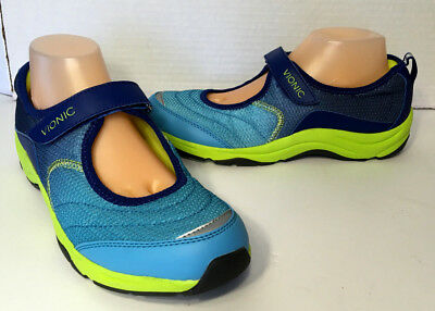 VIONIC Womens SUNSET Blue/Navy Mary Jane Active Walking Comfort Shoes Sz 9