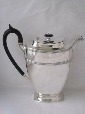 Smart Large Solid Sterling Silver Coffee Pot/ Water Jug 1919/ H 20 cm/ 655 g