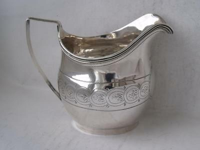 Nice Antique Georgian Solid Sterling Silver Cream Jug 1807/ H 9 cm/ 88 g