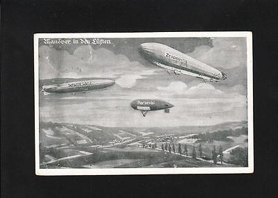 Germany Feldpost Leipzig 1915 To Soldier East Front Zeppelin Airship Postcard ZB