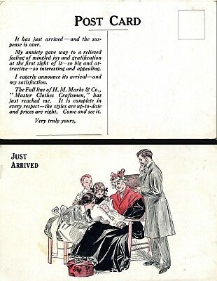 1900s H. M. Marks & Co. Advertising Postcard Master Clothes Craftmen Chicago IL