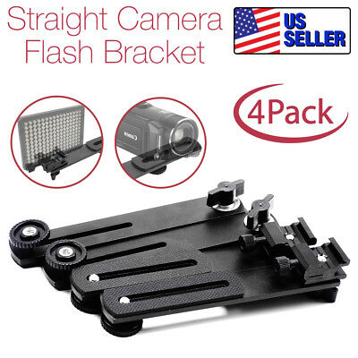 "4Pack|6.3"" Straight Flash Bracket 1/4""-20 Screw Hot Shoe Mount for Camera Tripod"