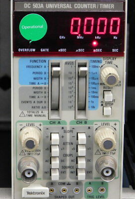 Tektronix DC 503A Universal Counter/ Timer Plug-In Module GOOD