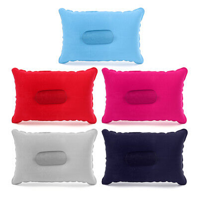 Double Sided Inflatable Sleep Pillow Mats Cushion For Camping Picnic Travel Soft