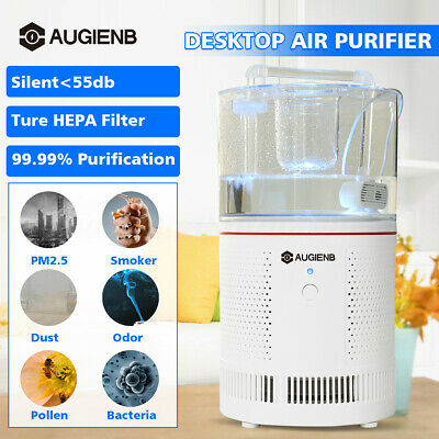 AUGIENB 3-in1 Filter Desktop Air Purifier Timing Ionizer Negative Ion Generator