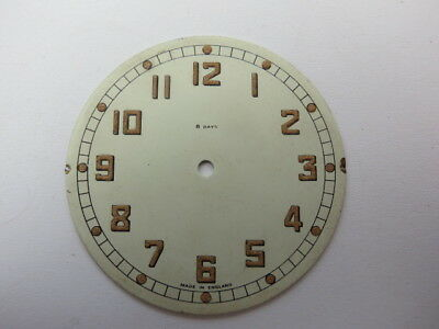 Vintage Art Deco 5.6 Cm 8 Day Painted Clock Dial