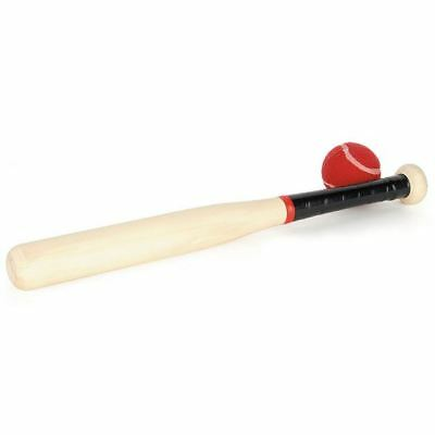 Wood Rounders Bat (18 inches) with Ball
