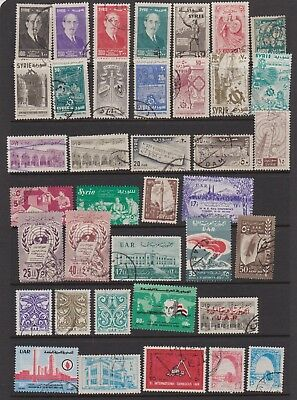 SYRIA 1956-1963 sixty-seven used inc. 1958 Damascus Fair MS & 1956 Airs set