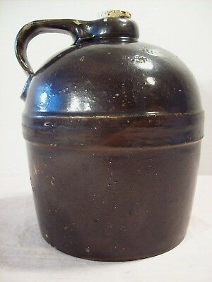 1880s~RED WING STONEWARE CO.~1/2 GAL. BROWN ALBANY SLIP GLAZE BANDED WHISKEY JUG