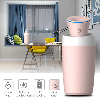 ANGIENB USB Mini Dual Mist Air Humidifier Car Home Anti-dry Protection Diffuser