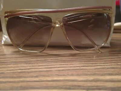 Vintage Laura Biagiotti Sunglasses Pink/Gold P-1872 Oxsol Large Square, No Case