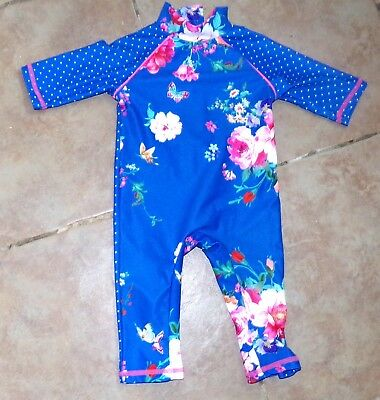 Bnwot Lovely Baby Girls Uv Sunsuit Swimsuit Swimming Costume Sz 3-6
