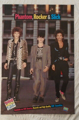 Slim Jim Phantom Lee Rocker And Earl Slick 1985 Promo Poster Stray Cats