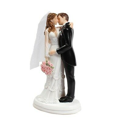 Resin Bride and Groom Kissing Wedding Cake Topper Decoration